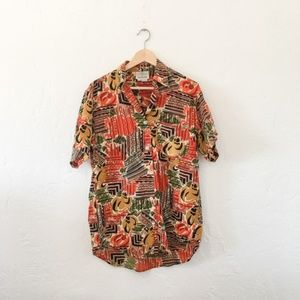Vintage Ann Taylor Silk Abstract Blouse